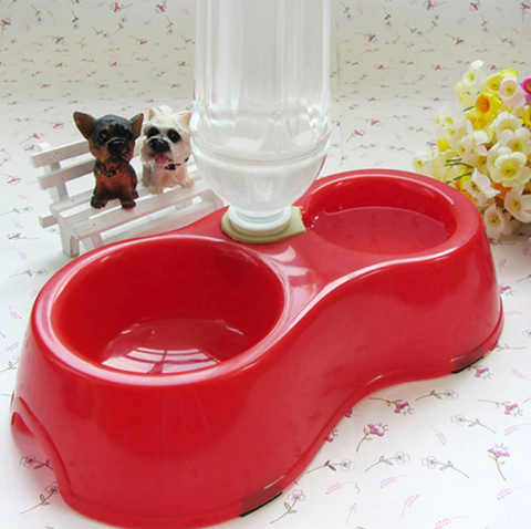 DUAL FEEDING DINNER STATION PET BOWLS