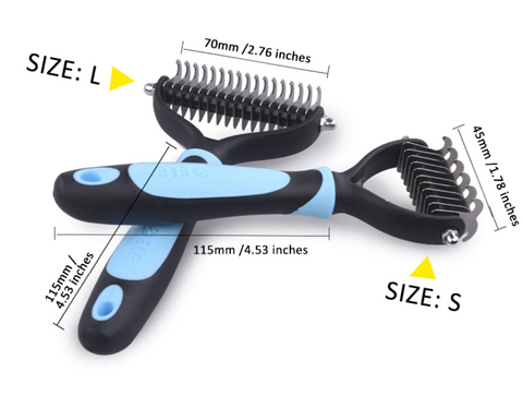 Hair or Fur Removal Comb Brush for Dogs