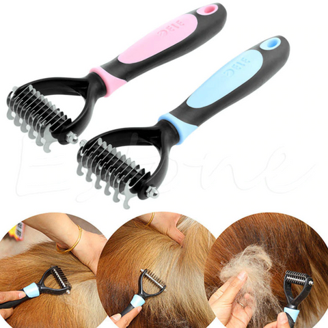 Pet Hair or Fur Removal Comb Brush for Dogs & Cats