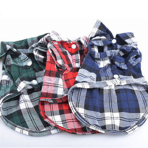 Plaid Summer Dog Shirt
