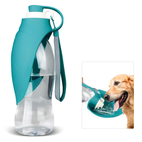 Foldable leaf dog water bottle