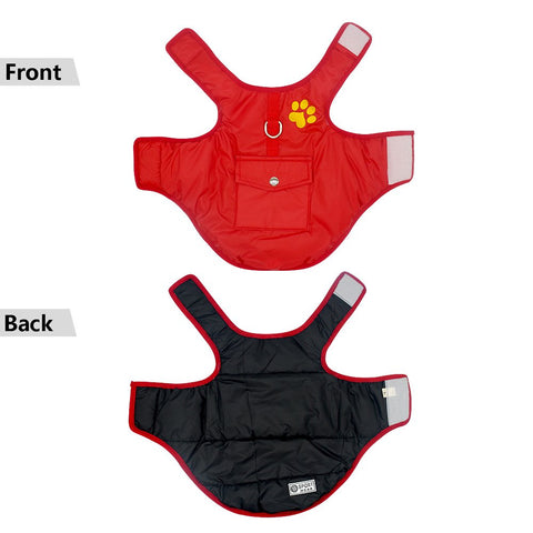 Winter waterproof vest jacket front and back image