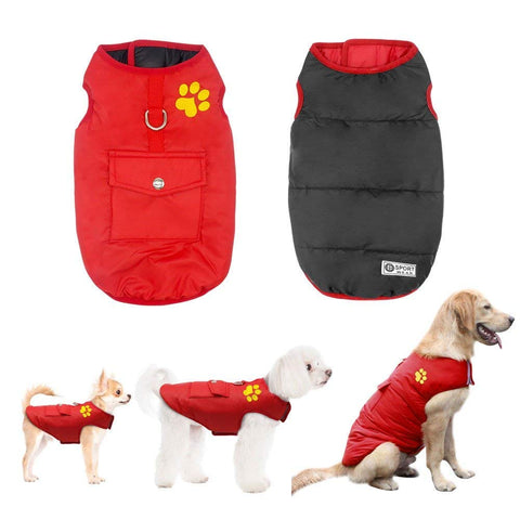 Winter waterproof vest jacket for small and large dogs