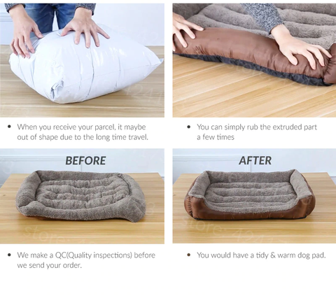 Warm bolster dog bed - unboxing