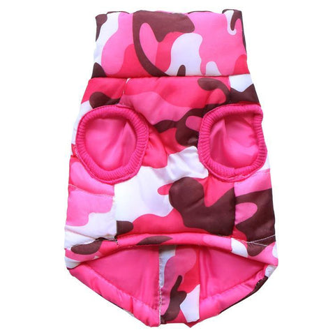 Camo fuschia pink dog vest jacket