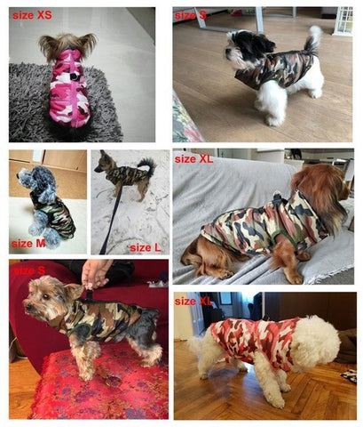 camo dog winter vest jacket for small and large dogs