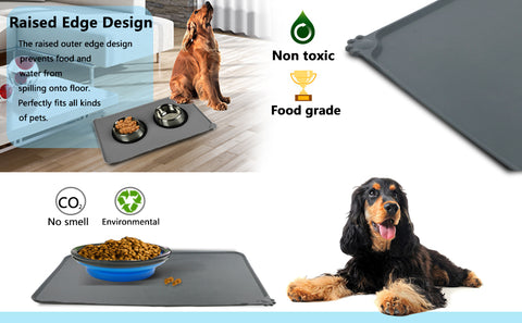 Waterproof pet bowls eco-friendly feeding mat