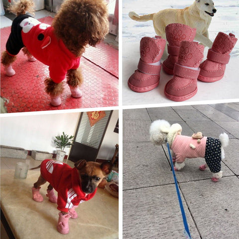 Snow Winter Soft Warm Dog Boots
