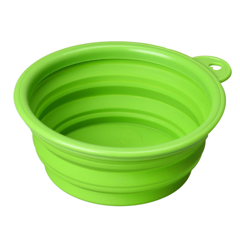Collapsible food and water dog bowl feeder