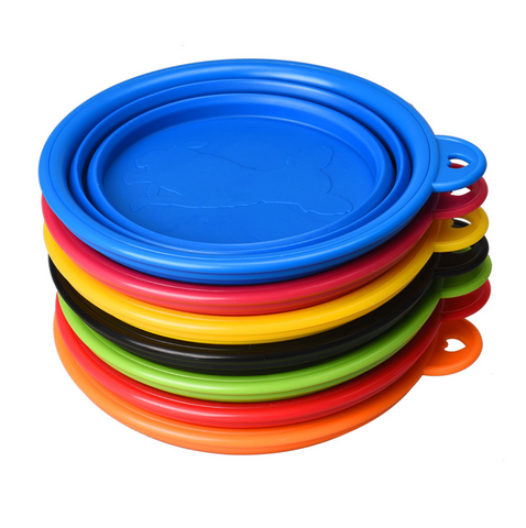 Collapsible food and water dog bowl