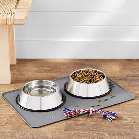 Waterproof pet bowls mat