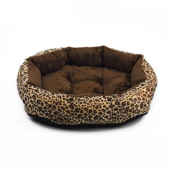 Leopard Print Dog Bed for Small Dogs | PUP ADDICT