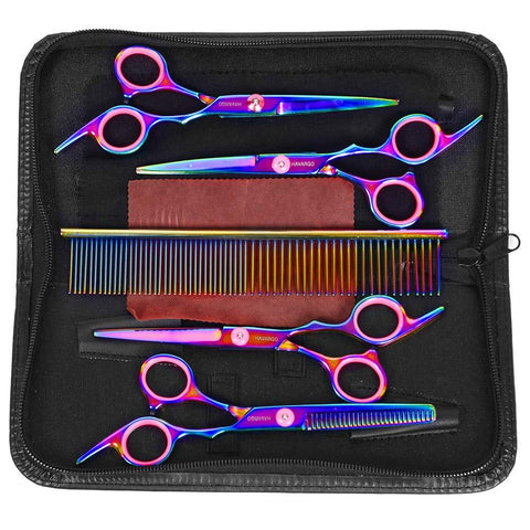 Colorful Dog Hair Scissors Clippers Set Grooming Kit | PUP ADDICT