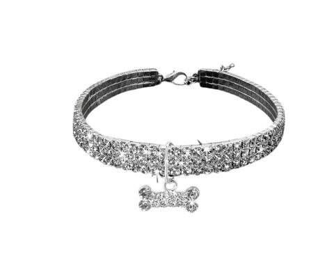 Bling Rhinestone Crystal Dog Collar