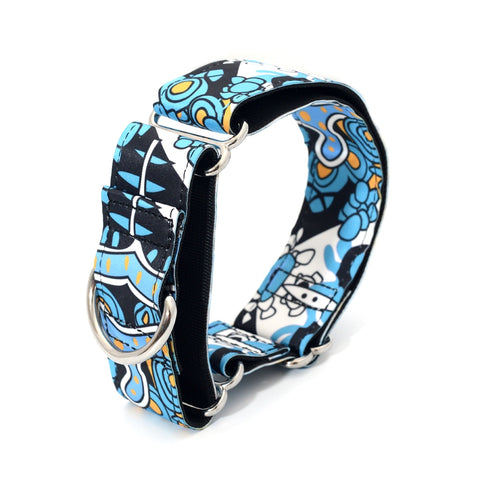 Design Martingale Dog Collar Fabric 2.5cm to 3.8cm Wide Necklace