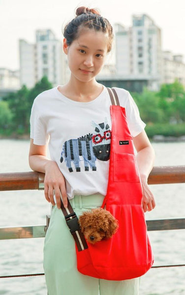 Small Dog Outdoor Sling Bag Carrier | PUP ADDICT