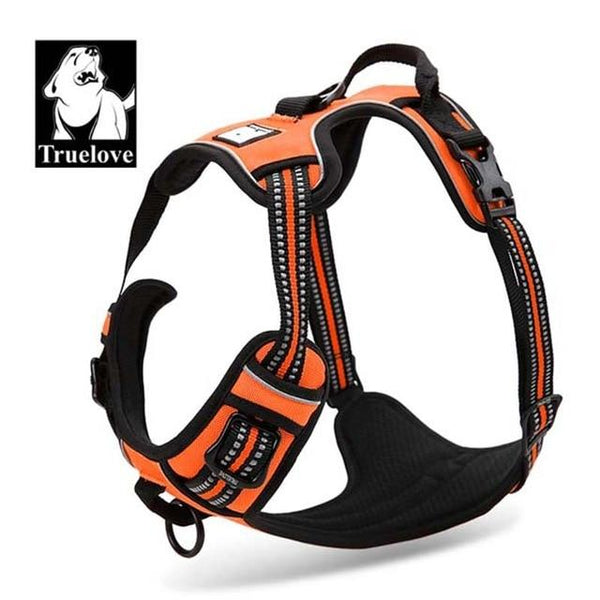 Reflective Nylon Large Dog Harness | PUP ADDICT