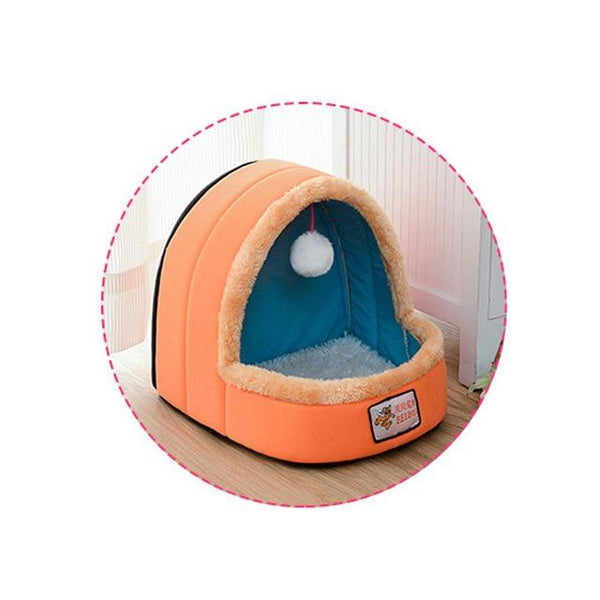 Small Dog & Cat Foldable Pet House | PUP ADDICT