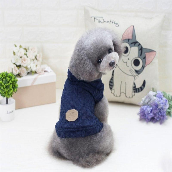 Knitted Style Puppy Hooded Dog Sweater | PUP ADDICT