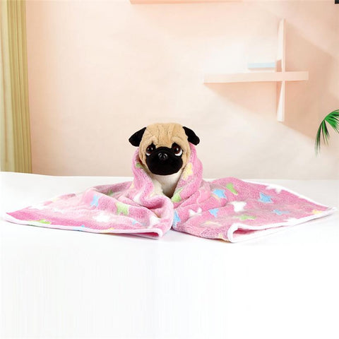 Soft Fleece Star Print Pet Blanket