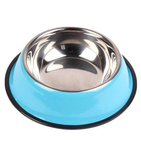 Anti-Skid Rubber Base Stainless Steel Pet/Dog/Cat Bowl | PUP ADDICT