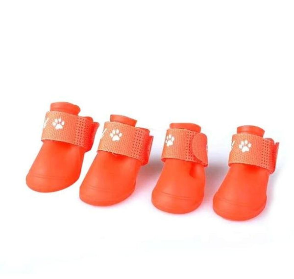 Rubber Waterproof Dog Rain Boots | PUP ADDICT