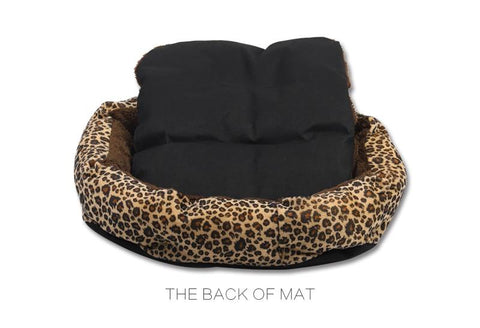 Leopard Print Dog Bed for Dogs