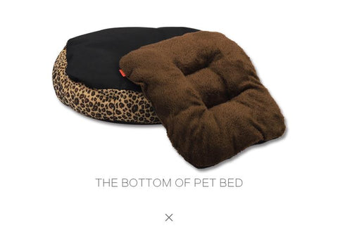 Leopard Dog Bed for Small Dogs