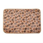 Soft Paw Foot Print Warm Dog Blanket/Mat | PUP ADDICT