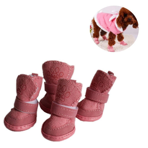Cotton Winter Snow Walking Dog Boots | PUP ADDICT