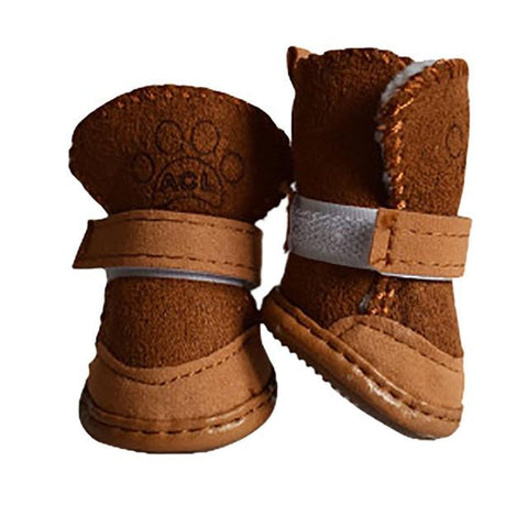 Fleece Lined Soft Winter Dog Boots/Shoes | PUP ADDICT