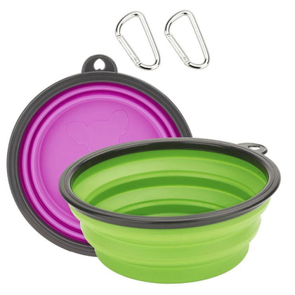 Dog Collapsible Travel Silicone Feeder Bowl | PUP ADDICT