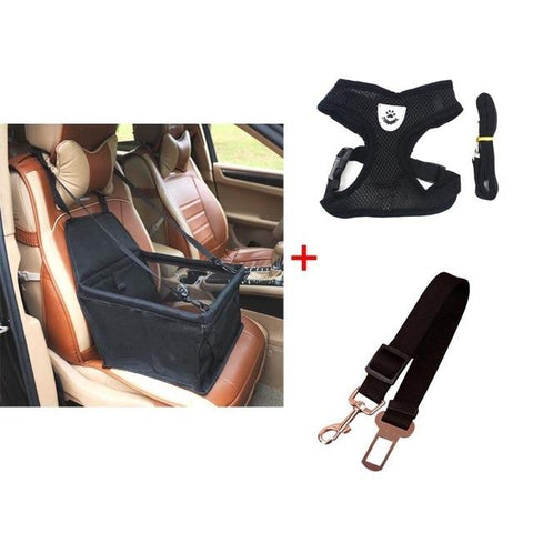 Booster Seat, Belt, Leash & Harness Set | PUP ADDICT
