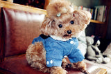 Winter Denim Dog Jeans Jacket | PUP ADDICT