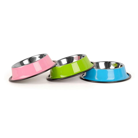 Stainless Steel Color Spray Paint Dog Bowl