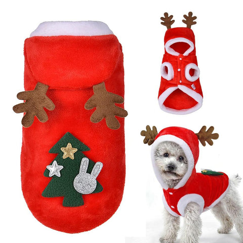 Christmas Winter Dog Hoodie Sweater | PUP ADDICT