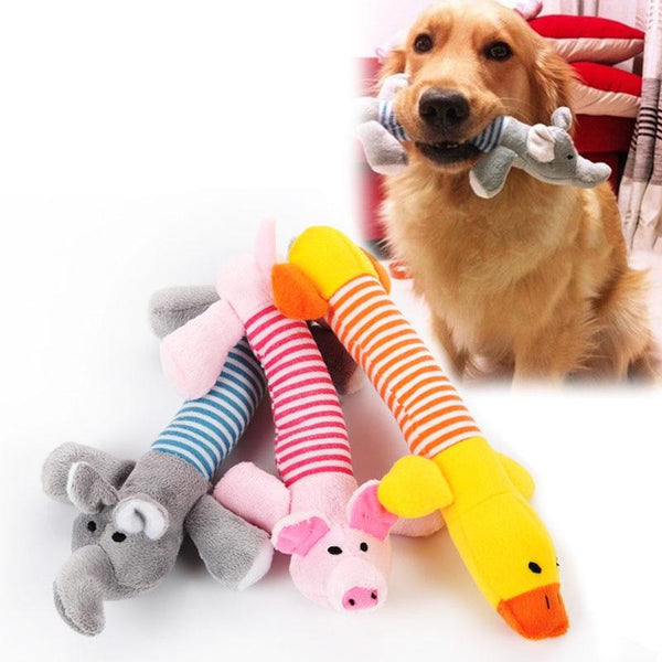 Fun Dog Chew Squeaky Plush Toy | PUP ADDICT
