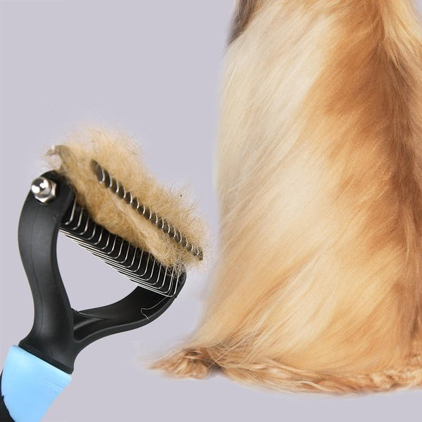 Pet Hair or Fur Removal Comb Brush for Dogs & Cats | PUP ADDICT