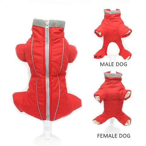 Winter Reflective Small Dog Jumpsuit | PUP ADDICT