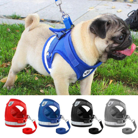 Reflective Dog Vest Harness & Leash