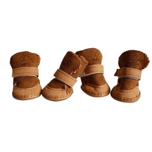 Cute Cotton Blend Dog Winter Boots | PUP ADDICT