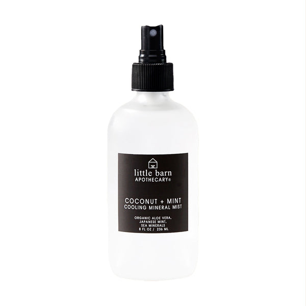 Coconut + Mint Cooling Mineral Mist by Little Barn Apothecary