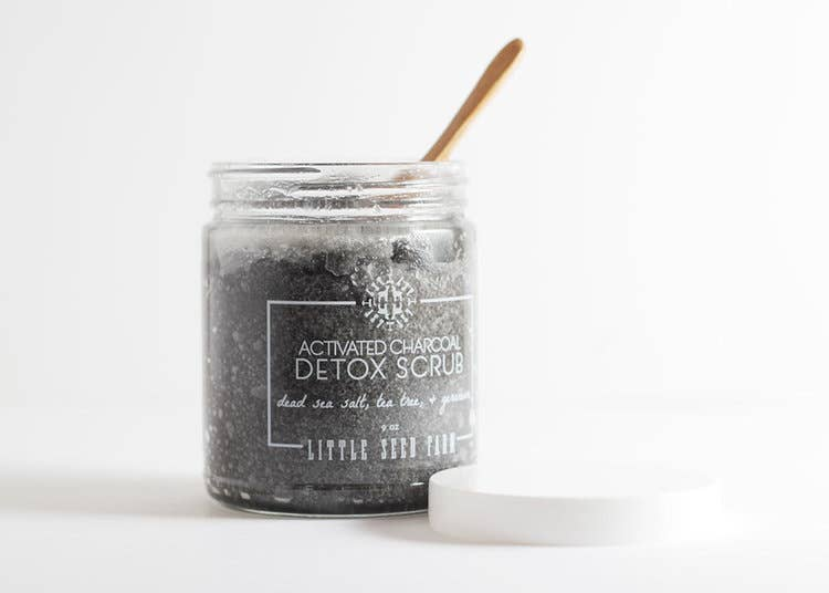 Activated Charcoal Detox Salt Scrub by Little Seed Farm