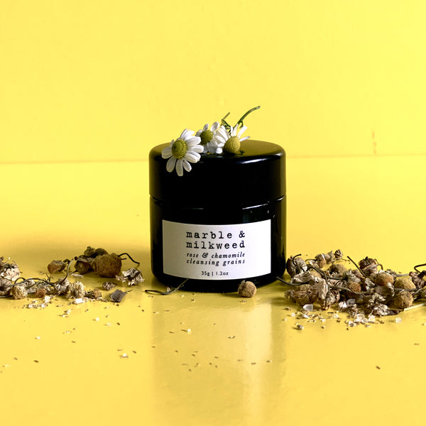 Rose & Chamomile Cleansing Grains by Marble & Milkweed