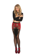 Sheer And Opaque Pantyhose With Heart Detail