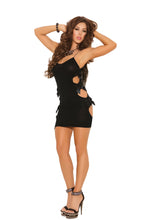 Opaque Mini Dress With Cut Out Sides And Satin Bow Detail