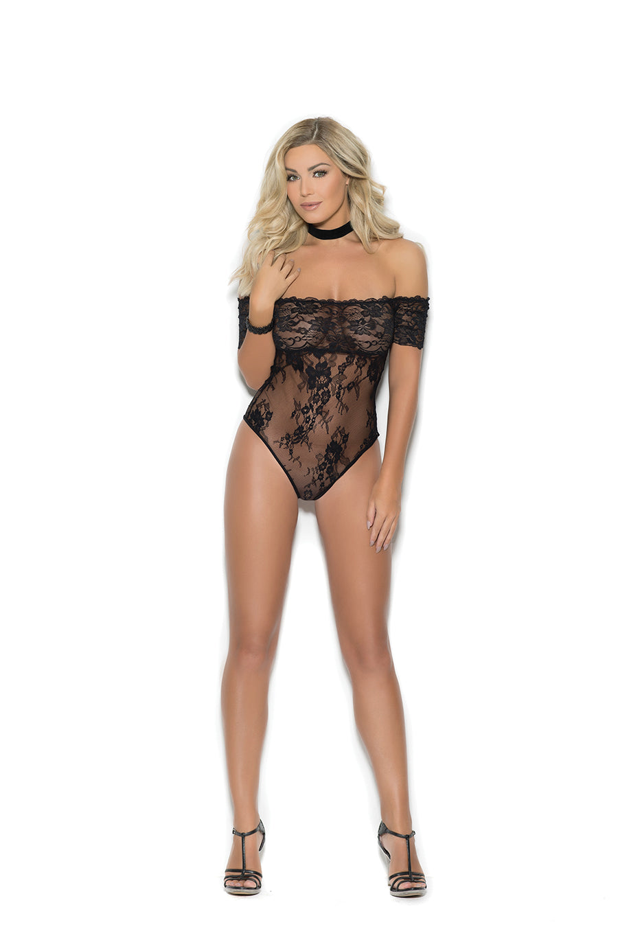 Off The Shoulder Lace Teddy