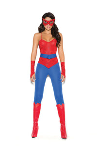 Fair Felicity Spider Super Hero 5 Piece Costume Front
