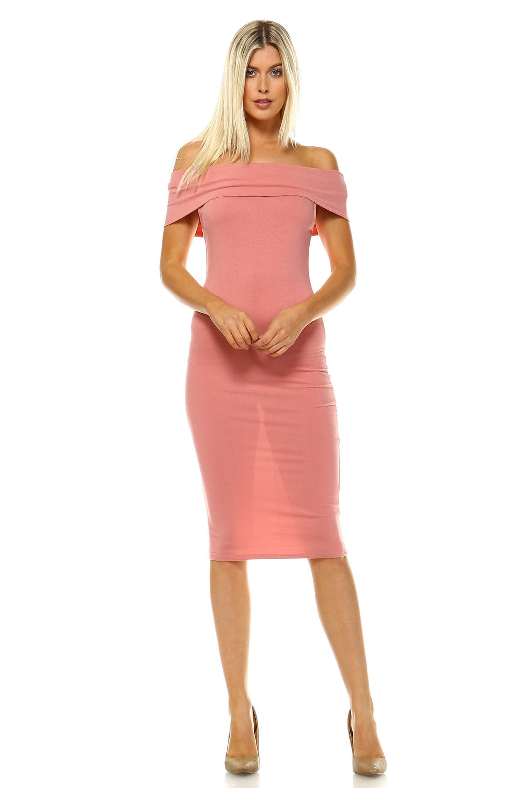 Off Shoulder Bodycon Dress - Comes In 3 Colors