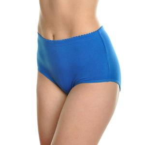 Fair Felicity - 6 Pack Multi Pack Plus Size Panties With High Waist - Blue - Front